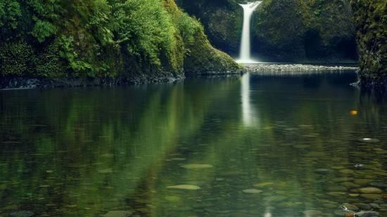 отражение в воде природа 9 (550x309, 128Kb)