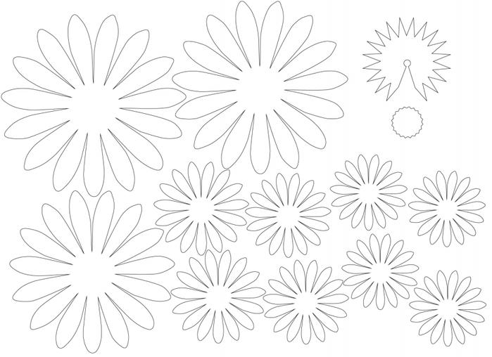 ГЕРБЕРЫ из цветной бумаги. Шаблоны и фото мастер-класс (1) (700x508, 216Kb)