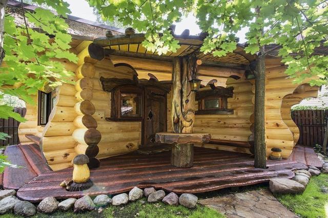 Оригинальная авторская баня из кедра