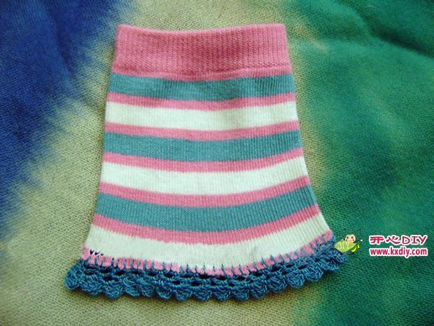 игрушки из носков. куколка и зайчик (16) (620x465, 189Kb)