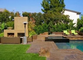 Ландшафтный дизайн дачного участка в стиле модерн