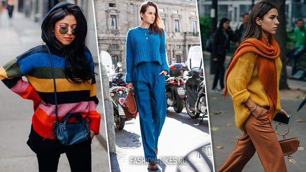 15 модных подсказок, как быть яркой и заметной в самом обычном свитере