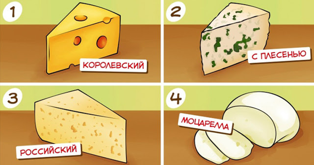 Просто выберите любимый сыр и узнаете кое-что о себе