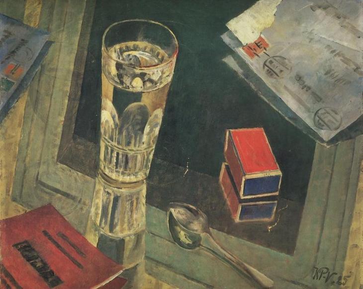 """Петров-Водкин. """"Натюрморт с письмами"""". 1925"""