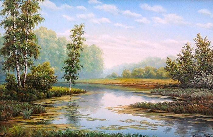 Атмосферные картины русского художника-реалиста Владимира Княгницкого
