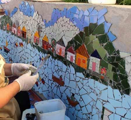 Оформление мозаикой своими руками