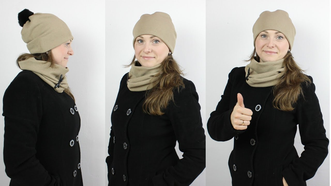 Как сшить шапку и снуд за 10 минут без выкройки