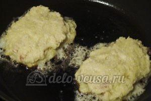 Картофельные драники с мясом: Сверху накрываем слоем теста
