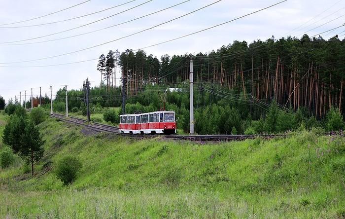 Такое красивое явление как трамвай в тайге