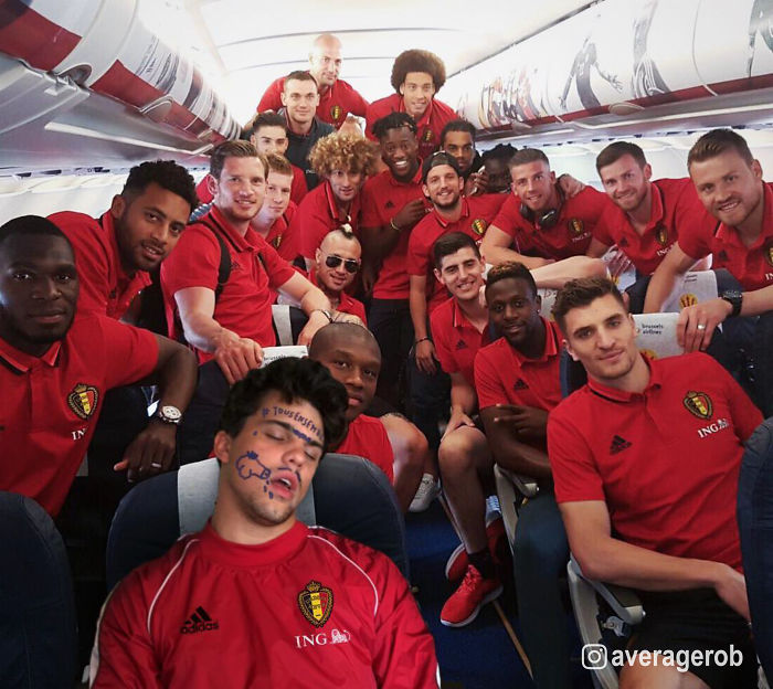 Belgian Red Devils Squad Pranking The Ball Boy