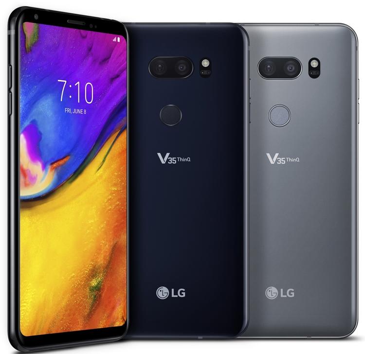 LG V35 ThinQ: мощный смартфон с чипом Snapdragon 845 и экраном QuadHD+