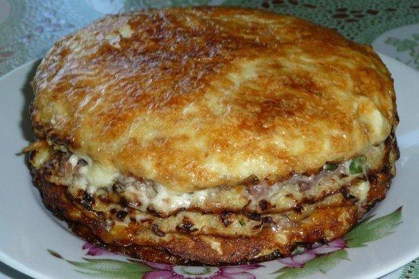 Капустный пирог с сырной про…
