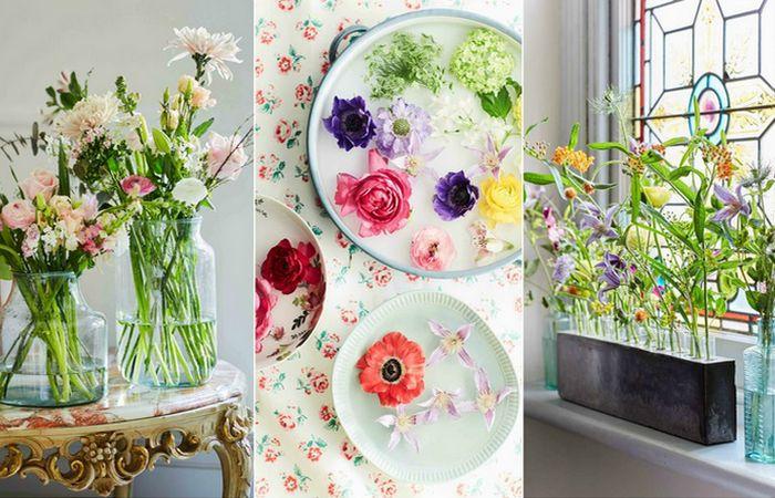 6 ярких идей украшения интерьера квартиры весенними цветами