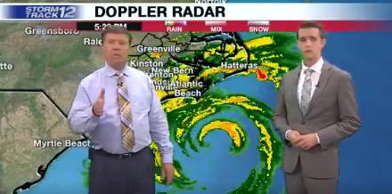 Американские метеорологи вели прямой эфир во время затопления студии