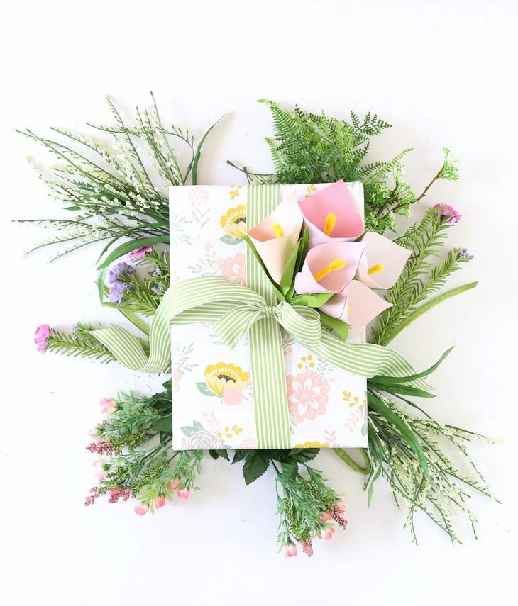Цветочная упаковка подарка (Diy)