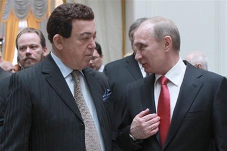 Кобзон подарил Путину старинную карту с Крымом в составе России
