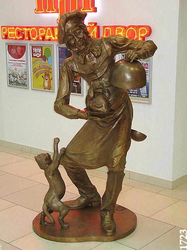 0083 Скульптуры и памятники кошкам