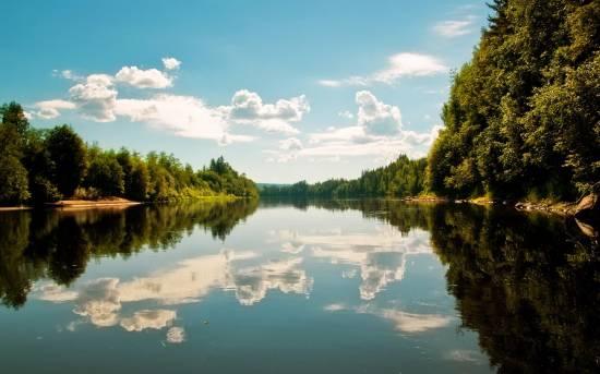 отражение в воде природа 3 (550x343, 163Kb)