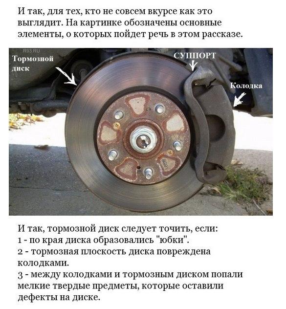 Самостоятельная проточка тормозных дисков.
