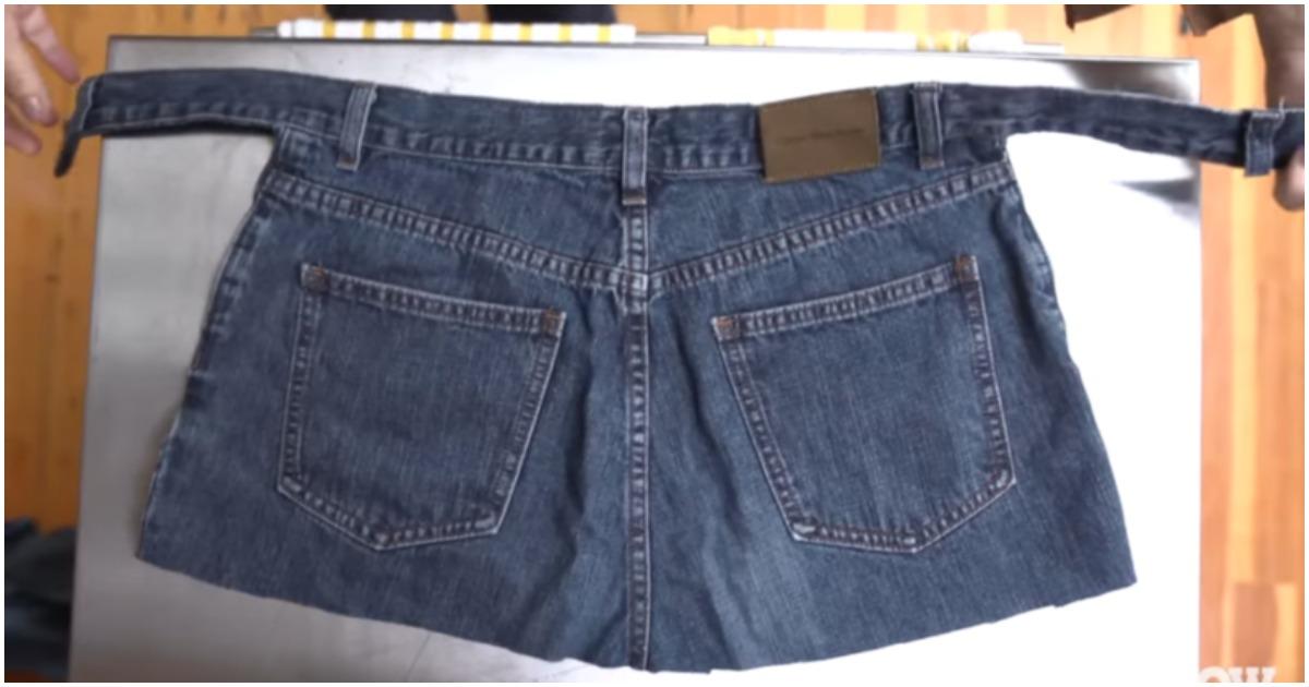 Удобная и практичная вещь из старых джинсов без единого шва!