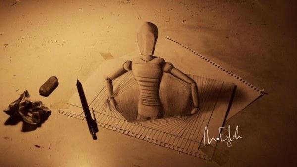 Объемные рисунки, сделанные карандашом