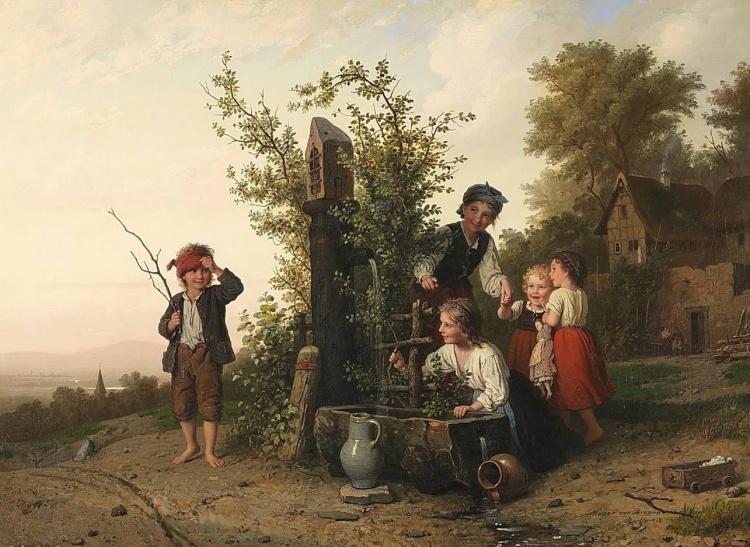 художник Иоганн Георг Майер фон Бремен (Johann Georg Meyer von Bremen) картины – 01