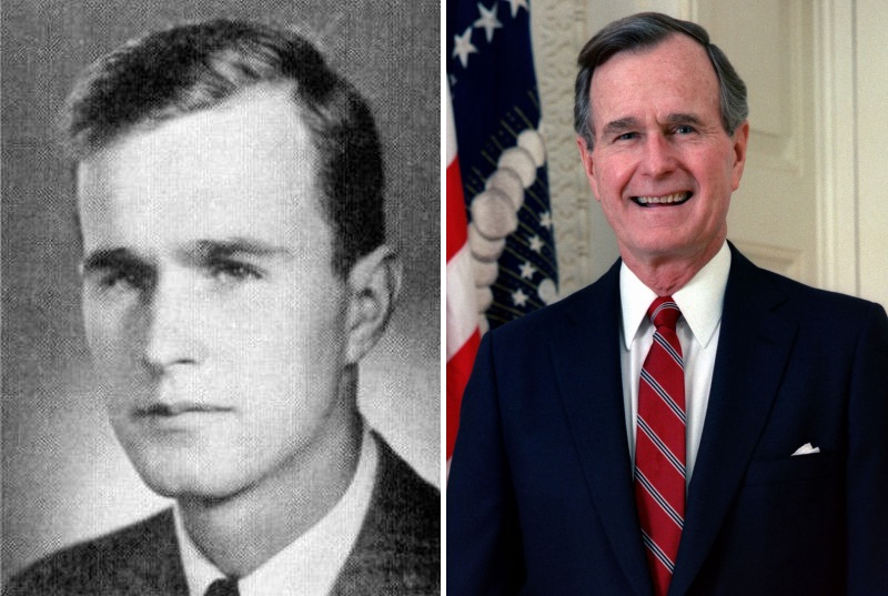 Политики в молодости: Джордж Буш-старший фото