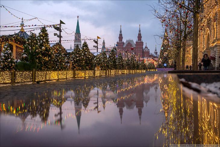 Прогулка по центру предновогодней Москвы