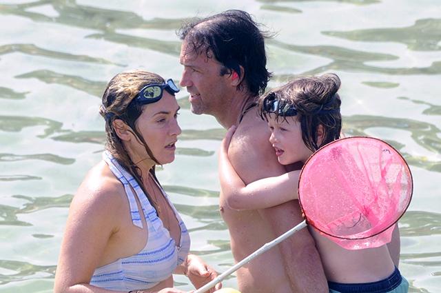 Кейт Уинслет с мужем и сыном…