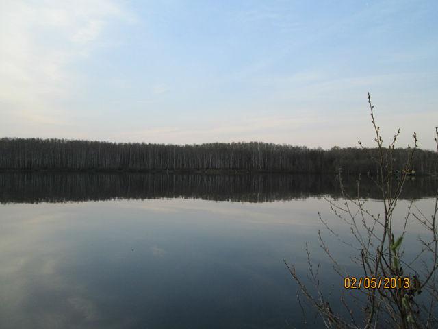 Утро и озеро.