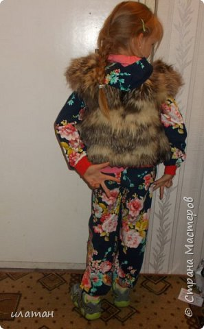 Гардероб Мастер-класс Шитьё Ремонт шубы из натурального меха Клей Мех Нитки Ткань фото 26