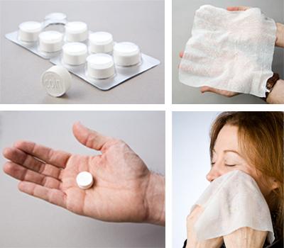 Салфетки-таблетки: просто добавь воды!