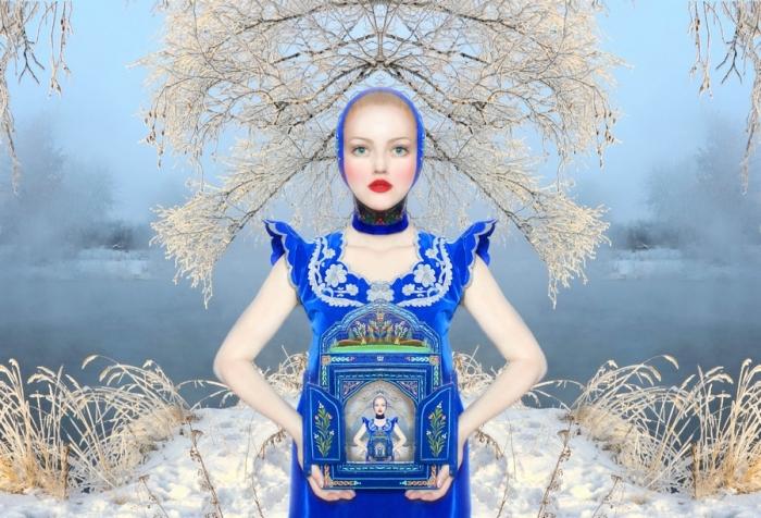 Сказочные мотивы: русская красавица Ольга Валеска в автобиографической серии работ