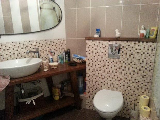 """""""Моя ванная"""": деревянную столешницу сделали сами"""