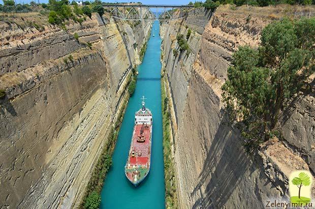 Коринфский канал в Греции – самый узкий судоходный канал в мире - 11