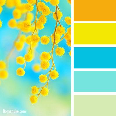Жёлтый сочетания цветов