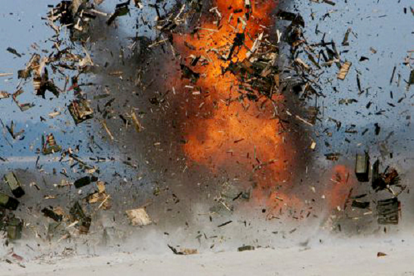 Взрыв в Луганске, есть трое пострадавших