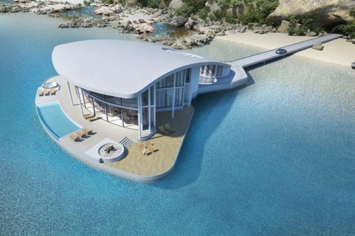 Осваивая водные просторы: шикарный дом на воде