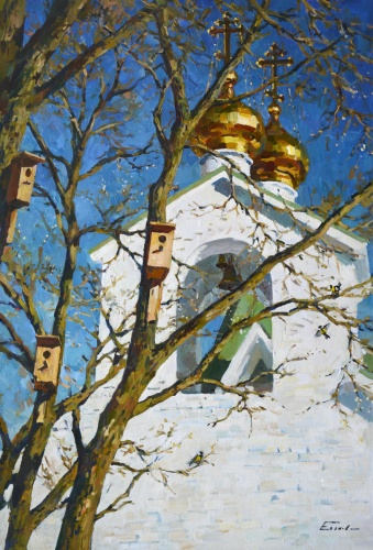 «Но знают все – весенний снег растает…» Художник Павел Еськов