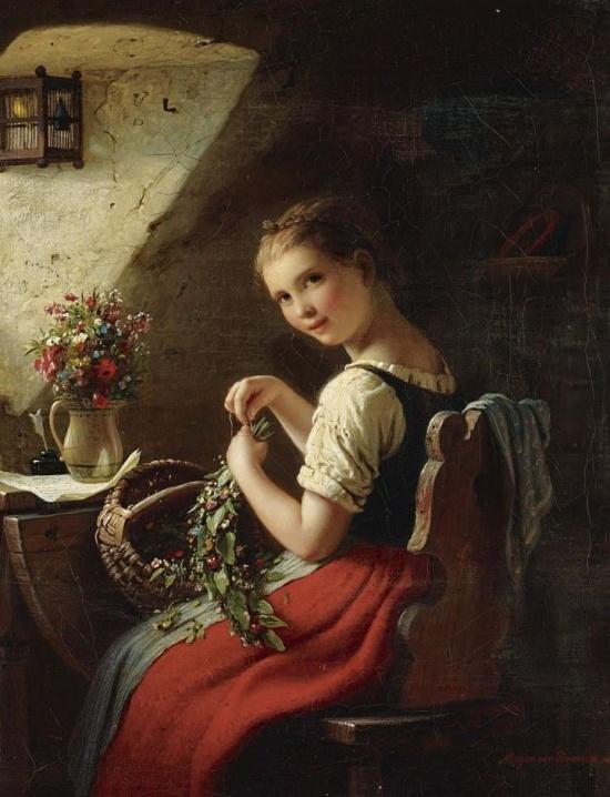 художник Иоганн Георг Майер фон Бремен (Johann Georg Meyer von Bremen) картины – 07