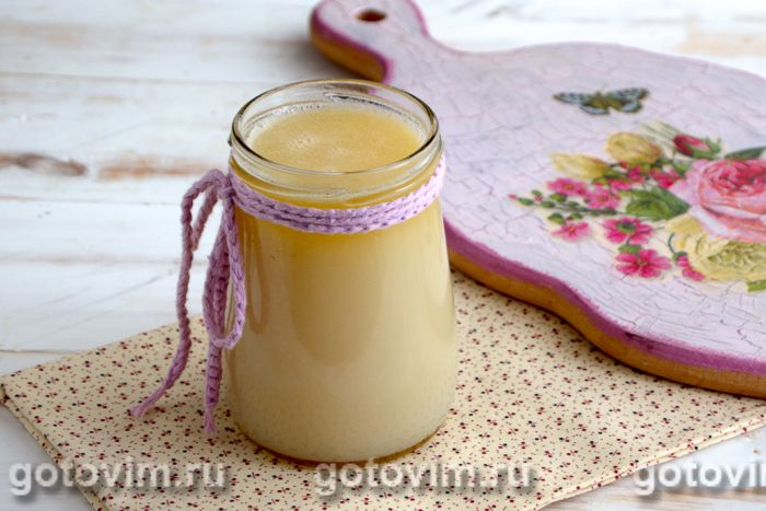 Домашнее сгущенное молоко (экспресс-метод за 15 минут). Фотография рецепта
