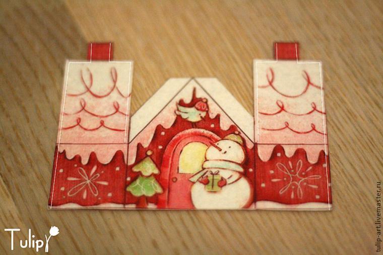 Делаем фетровый домик на ёлку с сюрпризом