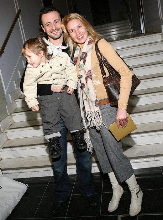 Ирина Лобачева и Илья Авербух с сыном Мартином