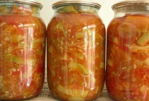 Салат из кабачков монастырский