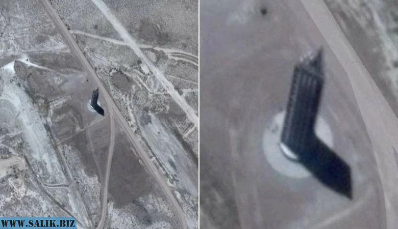 """На снимках с секретной """"Зоны 51"""" увидели треугольный небоскреб. Обман или реальность?"""
