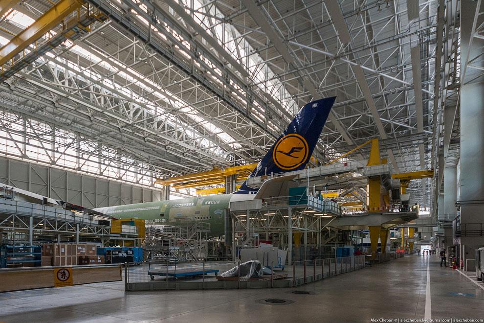 Процесс производства самого большого в мире пассажирского самолета