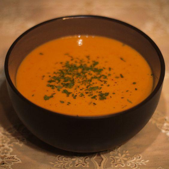 ДЕНЬ ПЕРВОГО БЛЮДА. Суп из сладкого перца с имбирем