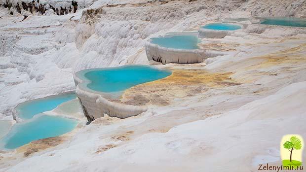 Уникальный курорт Памуккале с термальными источниками, Турция - 7