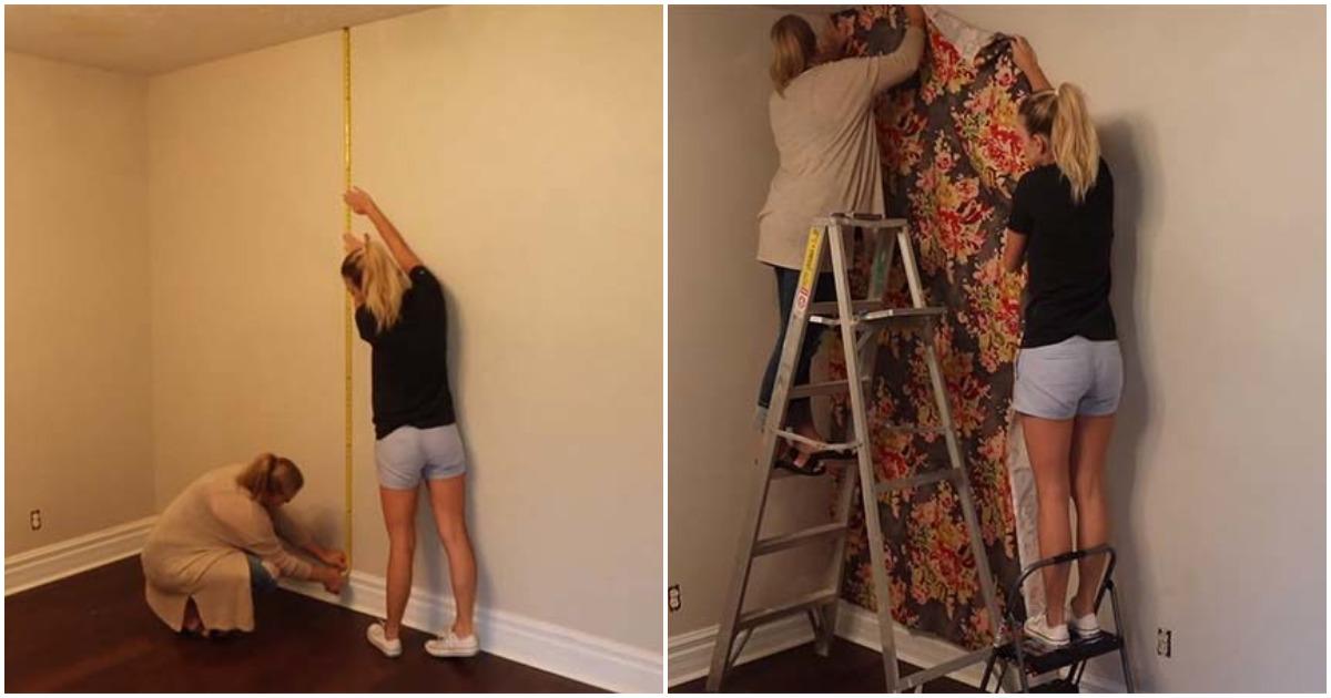 Создайте потрясающую акцентную стену, используя проверенный бабушкин метод