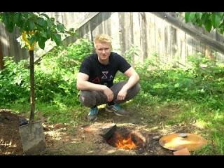Курица на углях в яме (эксперимент)
